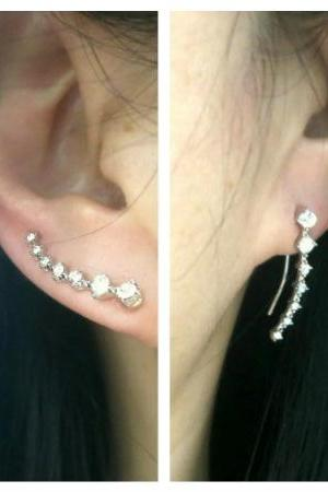 Ear Cuffs Minimalist Ear Sweep Pin, Ear Climber, Ear Crawler Earrings